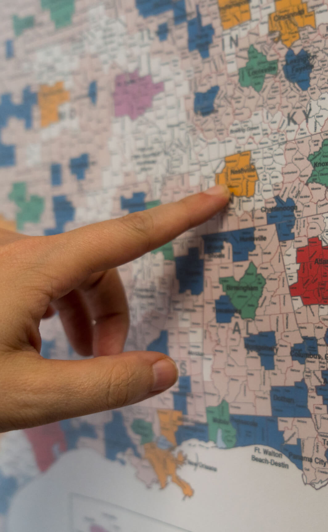 Traditional Media Map | Infinity Marketing | Integrated Marketing Agency | Greenville, SC