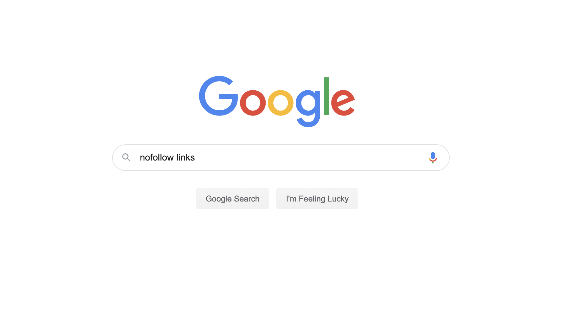 Google search for nofollow links