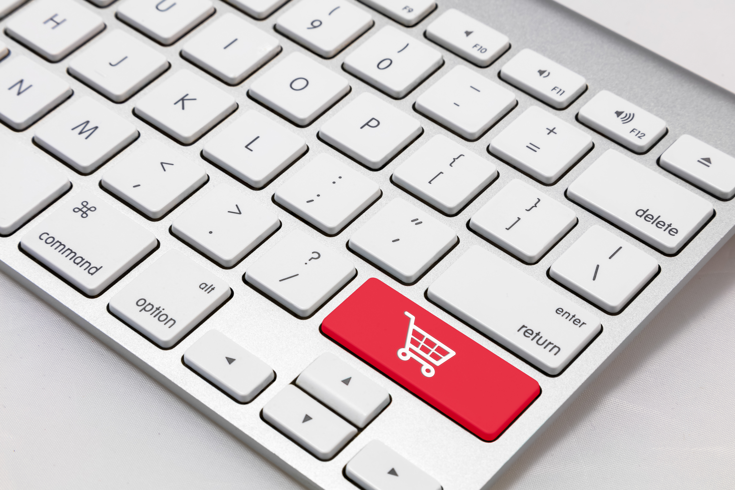 White,Wireless,Style,Keyboard,With,Red,