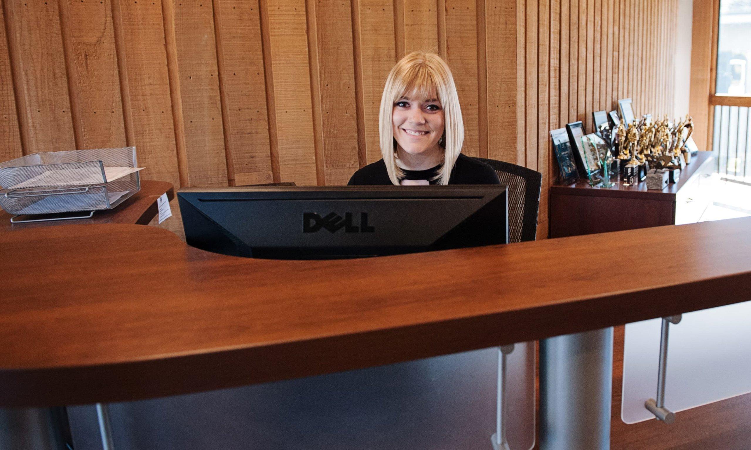 anna at desk