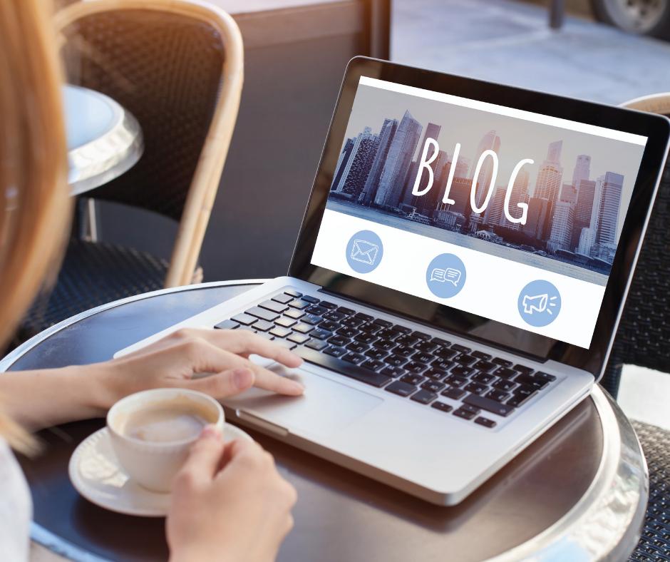 blog on a computer screen